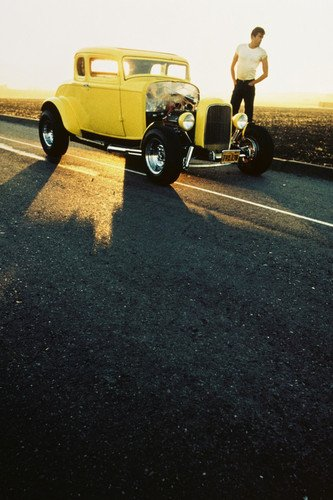 American Graffiti Paul Le Mat 1932 Ford Coupe at sunset on highway 24X36 Poster