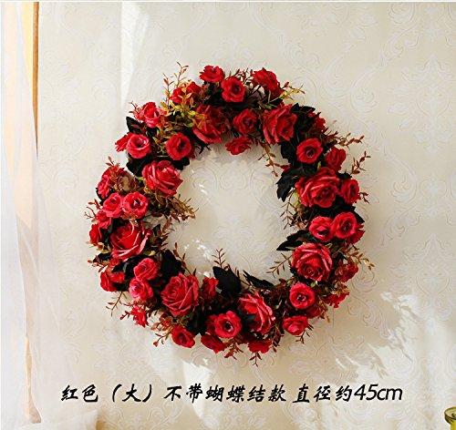 Meiyiu 45cm 18-inch Silk Flower Door Wreath Spring Summer Garden Wreaths Decorating for sitting room, hotel, wedding scene,wedding car, villa decoration by Meiyiu (Image #7)