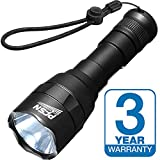 Powerful Flashlight PFSN USB Rechargeable Small XM-L2 LED Torch IPX67 Waterproof Super Bright Tactical Light High Lumens 5 Modes Best for Camping Hiking Biking EDC Emergency - 18650 Battery Powered