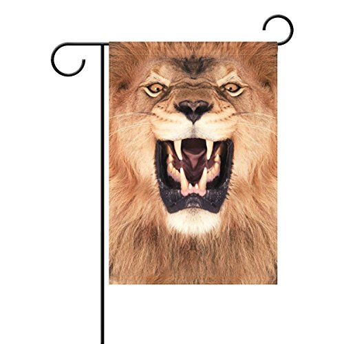 Home Lion Polyester Fabric Garden Flags Lovely And Mildew Resistant Custom Of Waterproof 12 X 18 Inch (Irish Lions Home Shirt)