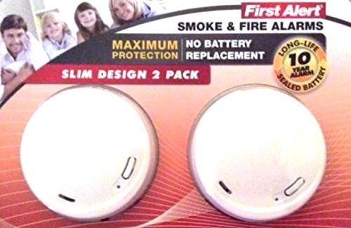 First Alert Smoke Lithium Slim Design