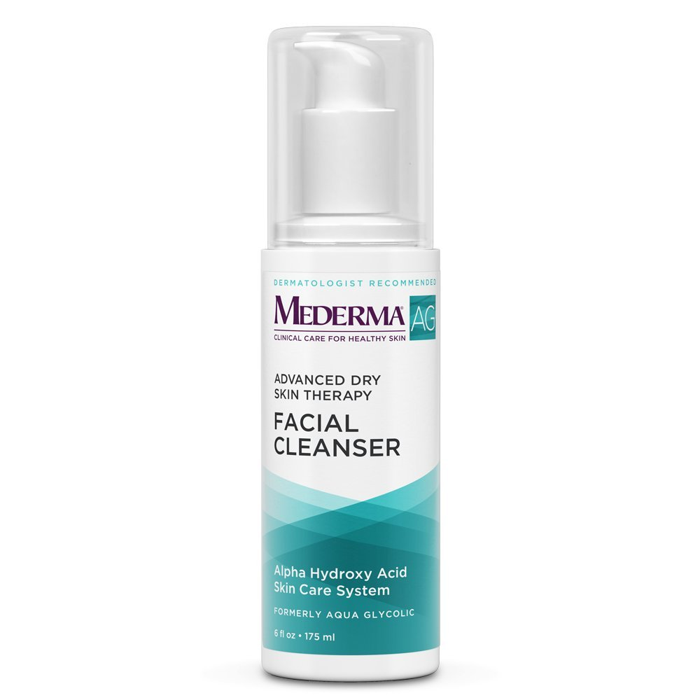 Mederma AG Hydrating Facial Cleanser–formula with glycolic acid gently cleans while exfoliating and hydrating skin. Dermatologist recommended brand, fragrance-free, soap-free, hypoallergenic-6 ounce