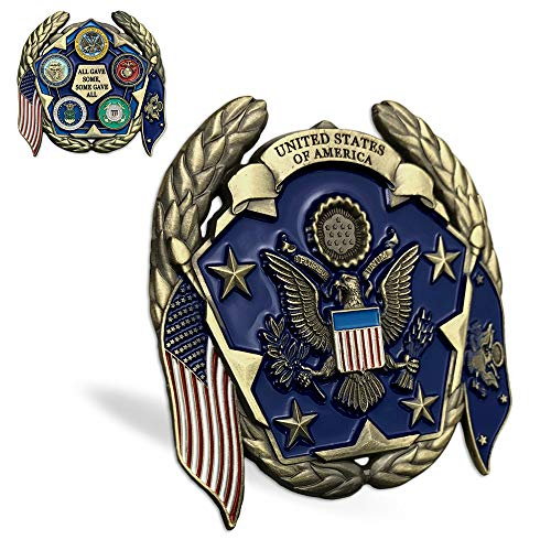 (United States Military Family Challenge Coin US Army USN USAF USMC USCG Veteran Collection Gift)