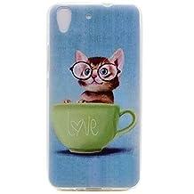 Huawei Y6 Case, Honor 4A Case, Cute Cat Pattern Premium Flexible Soft TPU Gel Case Rear Back Cover for Huawei Y6 / Y6+ / Honor 4A