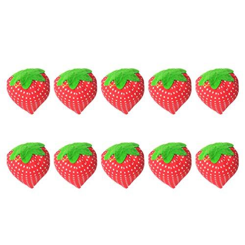 Milisten 10pcs Sewing Needle Pin Cushion Cute Strawberry Shape Pin Cushions Needle Pincushions for DIY Sewing Tools