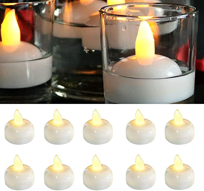 Amazon.com: Waterproof Flameless Floating LED Candles,24 Pack Floating Tealights,Pool Lights,Warm White Battery Flickering LED Tea Lights Candles - Centerpiece,Wedding,Party,Pool & SPA: Home Improvement