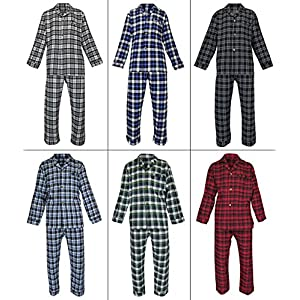 Casual Trends Classical Sleepwear Men's 100% Cotton Flannel Pajama Set,