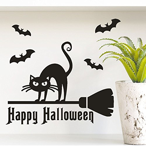 OTTATAT Wall Stickers for Bathrooms 2019,Happy Halloween Bone Window Home Decoration Decal Decor Easy to Peel Christmas Party Gift for Mother Free Deliver Clearance -