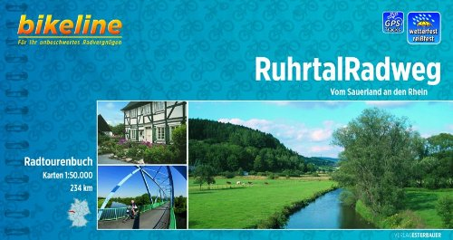 Bikeline Radtourenbuch, Ruhrtal-Radweg. Vom Sauerland an den Rhein, wetterfest/reißfest