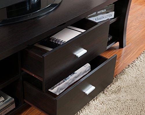 IoHOMES Dallas TV Stand 72 Cappuccino Furniture