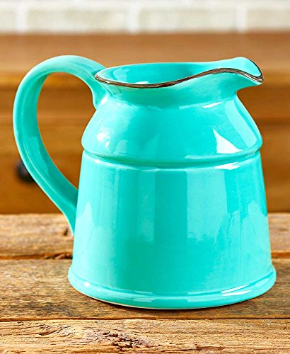 The Lakeside Collection Ceramic Country Crock Vases Teal