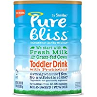 4 Pack Similac Pure Bliss Toddler Drink with Probiotics, Fresh Milk from Grass-Fed Cows, One Month Supply, 31.8 ounces