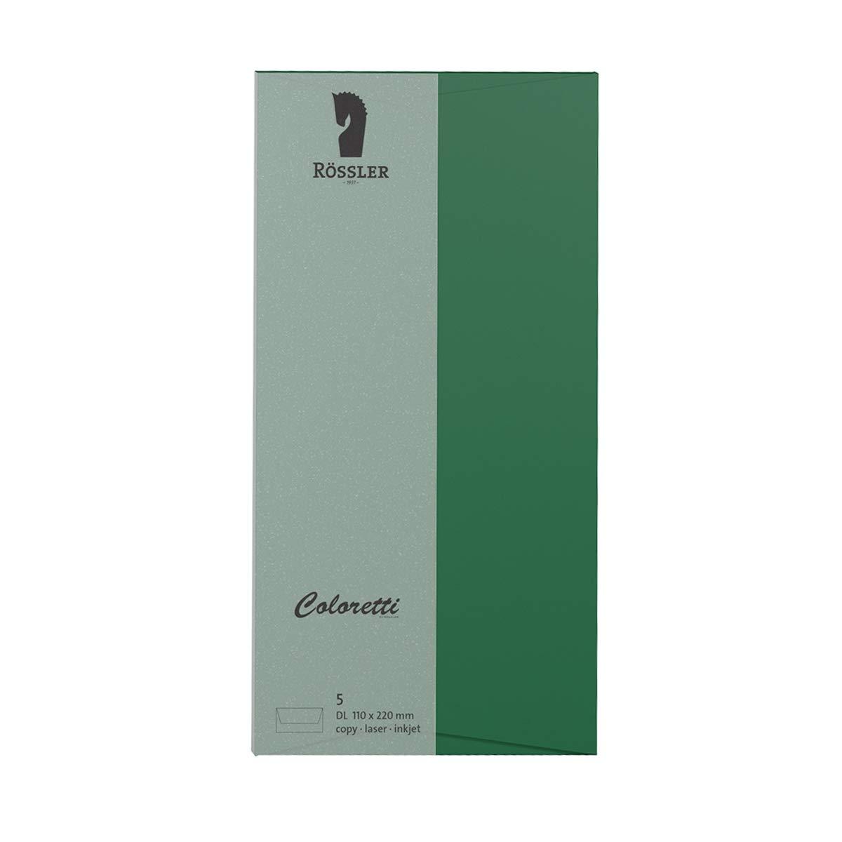 Coloretti Karten B6 Weiß im 5er Pack ungefalzt zum Selbstgestalten Rössler; ...
