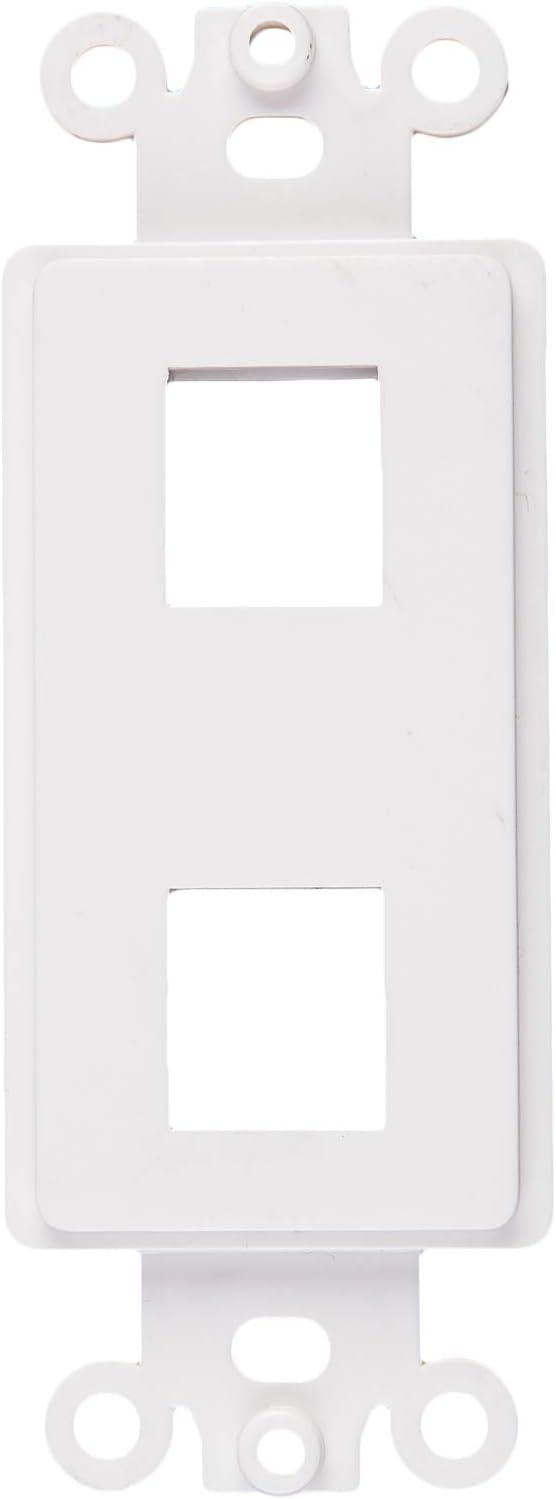 Tricom Quickport Decora Wall Plate Keystone Insert (20 Pack, 2 Port)