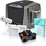 Fargo DTC1250e Dual-Side ID Card Printer + Supplies with CloudBadging Software