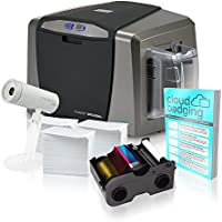 Fargo DTC1250e Single-Side ID Card Printer + Supplies with CloudBadging Software