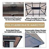 AsterOutdoor 10x12 Outdoor Hardtop Gazebo for