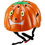 DRBIKE Kids Skate Helmet – Pumpkin Child Bike Helmet for Toddler, Adjustable Helmet for Boys & Girls 5-8, Bicycle Skate Scooter (47-52cm) For Sale