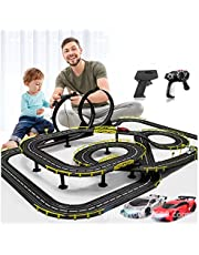 High-Speed Electric Powered Super Loop Speedway Slot Car Track Set with Two Cars for Dual Racing, Boys Toys for 3 4 5 6 7 8-16 Years Old Kids Best Gifts