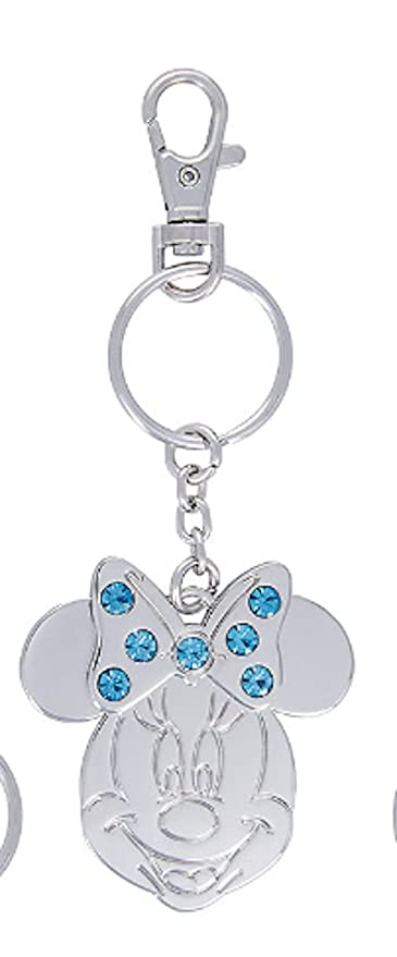 Amazon.com  Disney Parks Minnie Mouse Metal March Faux Gem Birthstone Keychain  Key Chain  Automotive d7db45e009