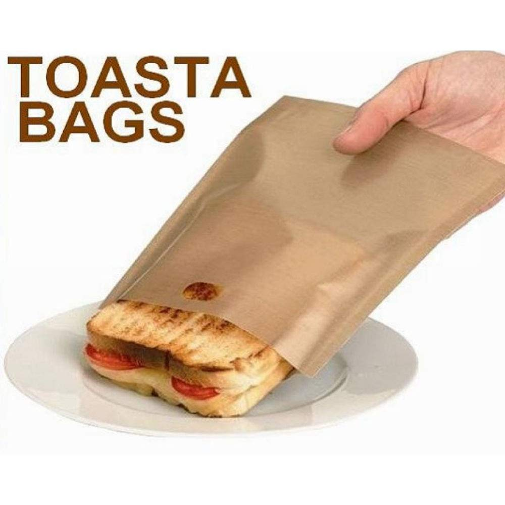 Non-Stick Grilled Cheese Reusable Sandwiches Toaster Bags Grilled Cheese Heat Resistant Grilling Bags 6Pack
