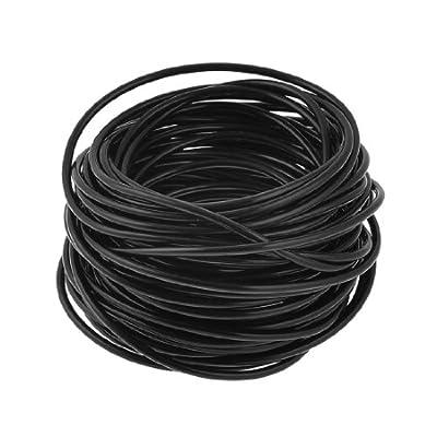 uxcell Black 4x2x1mm Pneumatic Polyurethane PU Air Hose Pipe Tube 20 Meter