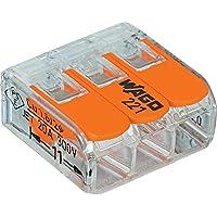Wago 221-413 LEVER-NUTS 3 Conductor Compact Connectors 500 PK