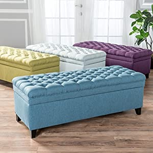GDF Studio Laguna Living Room Furniture Tufted Storage Ottoman