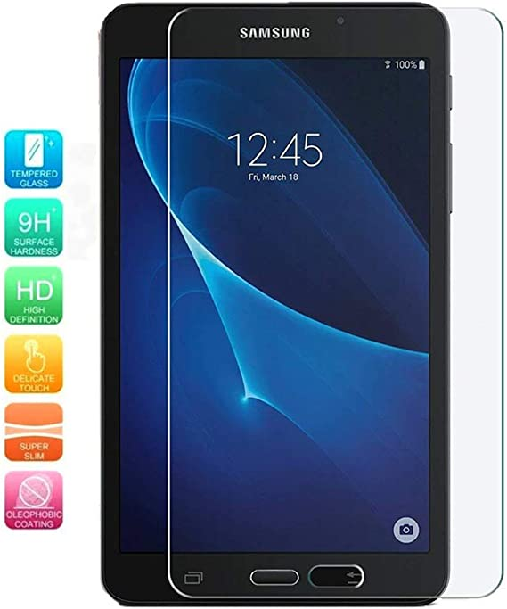 """2x For Samsung Galaxy Tab A 7.0/"""" SM-T280//T285 HD Tempered Glass Screen Protector"""