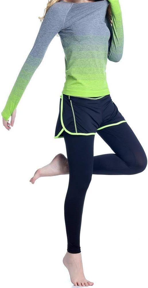 Chándal para mujer Fitness Sets Damas protector solar gradiente de ...