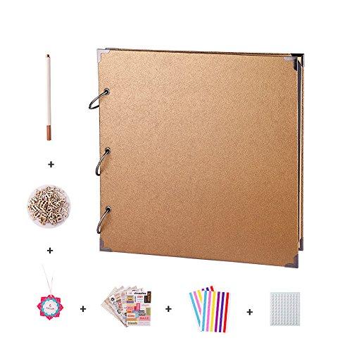 FaCraft 12x12 Scrapbook Album and Accessories (Gold)