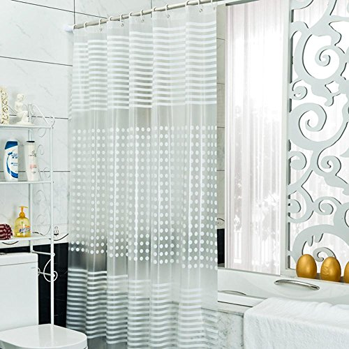 OOFYHOME Shower Solid color Matte Waterproof Mildew Resistant Shading Thickening 100%PEVA Bathroom Partition s the smallest ?4779-inch? , 240200cm