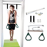 DreamGYM Indoor Swing | Gymnastics Bar and Trapeze Bar and Rings Combo | Green