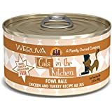 Weruva Cats in the Kitchen, Fowl Ball with Chicken & Turkey Au Jus Cat Food, 3.2oz Can (Pack of 24)