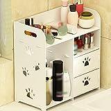 HPLL Storage Racks Desktop Cosmetic Dressing Table Storage Box Drawer Rack (Color : Ivory white)