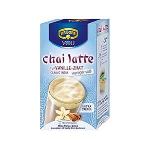 Krüger Chai Latte Classic India, Té con Leche, Vainilla-Canela, 10 Bolsas