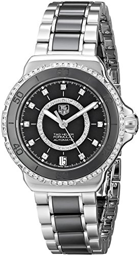 TAG Heuer Women s THWAU2212BA0859 Formula 1 Diamond-Accented Stainless Steel Automatic Self-Wind Watch