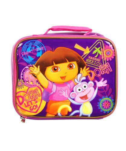 Nick Jr Dora Lunch Bag - square shape Dora lunch tote (Classy Lunch Bag)