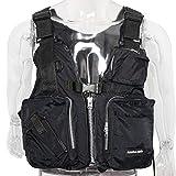Amarine Made Boat Buoyancy Aid Sailing Kayak Fishing Life Jacket Vest (Black)