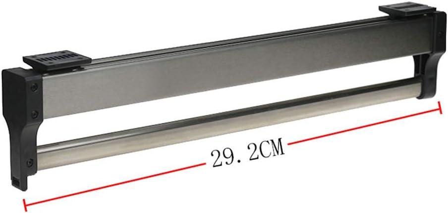GSKB Porte-v/êtements Extractible Longueur 30cm 35cm 40cm 45cm 50cm Montage par Le Haut Acier Inoxydable Porte-cintres Coulissant Noir Blanc 1 Pi/èce