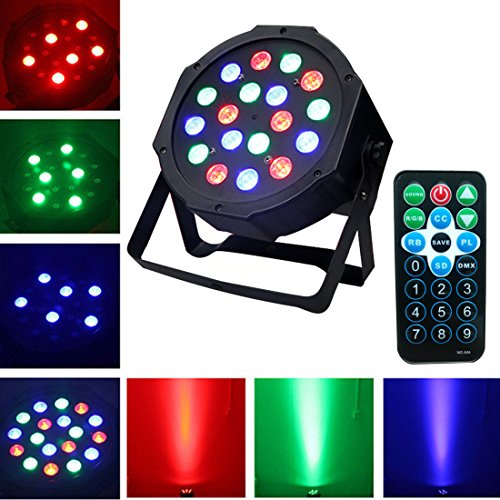 DJ Disco Party Par Stage Lights Sbolight Led 18 Par Dmx Rgbw Effect Projector Lights for Stage Lighting With Remote Control for Dancing Christmas Halloween Thanksgiving KTV Bar Vocal Concert Birthday