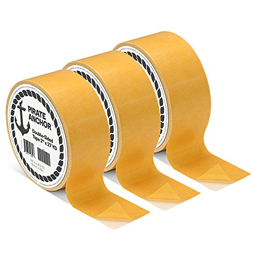 Pirate Anchor Double Sided Tape, 3-Roll Pack Anchor Double Sided Tape