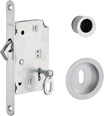 Thirard - BLOQUEO DE GANCHO con llave para puerta corredera, cromo ...