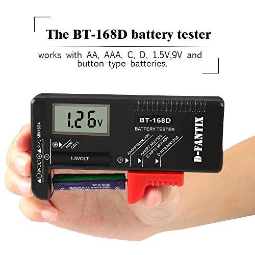 Household Battery Tester : D fantix digital battery tester for aaa aa c v