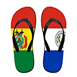 Flag Of Bolivia And Paraguay Cool Flip Flops For Children Adults Men And Women Beach Sandals Pool Party Slippers
