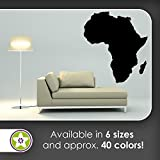 KIWISTAR Country africa silhouette outline continent Wall decals in 6 sizes - Wall Sticker Walltattoo vinyl For Home Living Room House Bedroom Bathroom Kitchen Office decor art style
