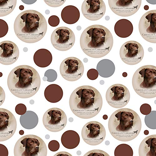 Wrapping Paper Chocolate (GRAPHICS & MORE Chocolate Lab Labrador Dog Breed Premium Gift Wrap Wrapping Paper Roll)