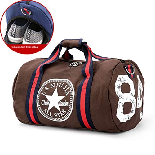 Bags Yoga Pack Sport Men Gym Canvas Brown Travel Bag Women's S1xwcE4F