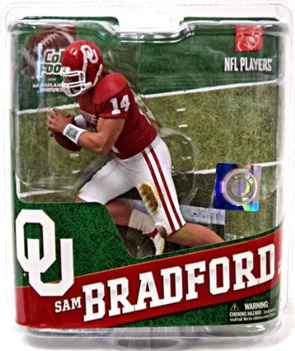 NCAA University of Oklahoma McFarlane 2012 College Football Series 4 Sam Bradford Action Figure (Sam Football)