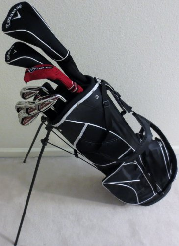 NEW Men's Callaway Golf Clubs Set Complete Driver, Fairway Woods, Irons, Putter, Stand Bag Deluxe Diablo Model All Graphite Shafts Right Handed Set